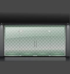 modern glass facade vector image vector image