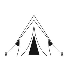 outline tent equipment camping activities vector image