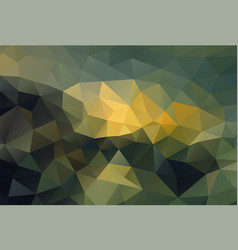 polygon background dark ground vector image vector image