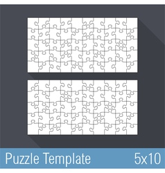 Puzzle Template 5x10 vector image vector image