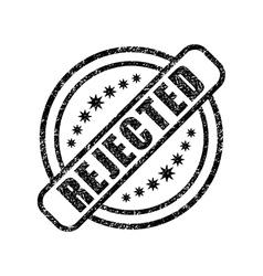 Rejected damaged stamp vector