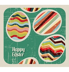 retro Paper easter egg card vector image vector image