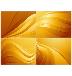 Set of orange backgrounds vector