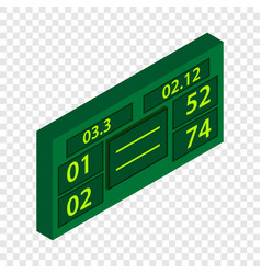 tennis scoreboard isometric icon vector image