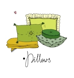 Types of sleeping pillows set vector image