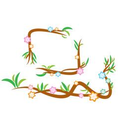 vine design with flower and leaf vector image