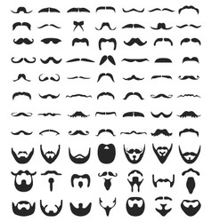 Beard and moustache vector