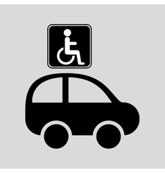 Disabled handicap sign graphic vector