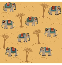 Indian pattern with elephant vector