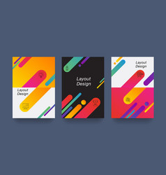 Abstract colorful layout trendy wallpaper vector