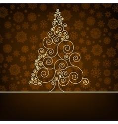 Retro christmas card Template EPS 8 vector image