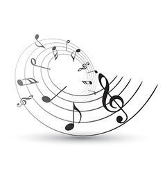 music note vector image