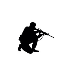 Soldiers silhouettes vector