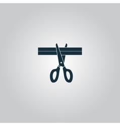 Presentation - scissors and cutting vector
