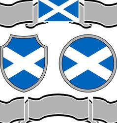 Flag of scotland with banners vector