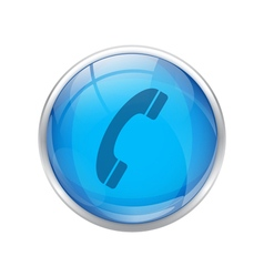 Blue phone icon vector