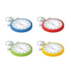 Stopwatch set of timers time to work time is vector