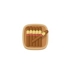 Cigars box with havana cigarets icon vector