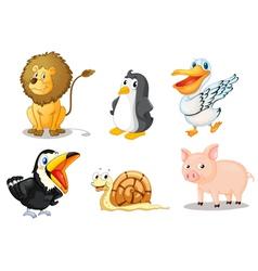 Cartoon animals set vector