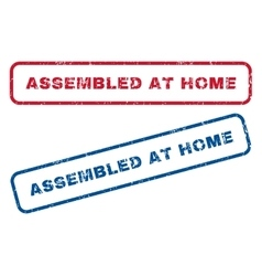 Assembled at home rubber stamps vector