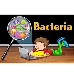 Bacteria on computer laptop vector
