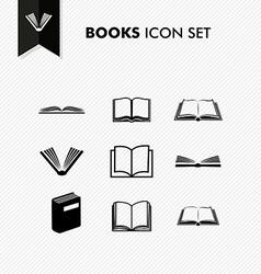 Basic Books icon set isolated vector image