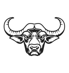 Buffalo head icon on white background vector