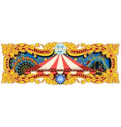 Carnival banner circus theme vector