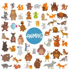 Cartoon animal characters huge set vector