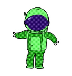 comic cartoon astronaut vector image