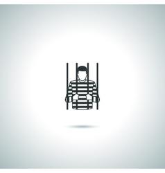Criminal prisoner icon vector