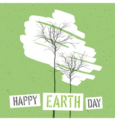 Design for Earth Day Concept Poster With Trees On vector image vector image