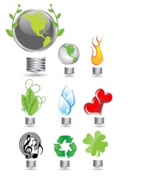 Eco globes vector
