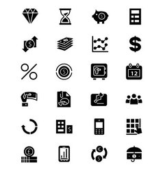 Finance solid icons 7 vector