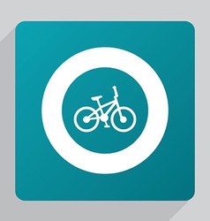 Flat bike icon vector