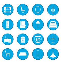 Furniture icon blue vector