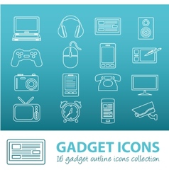 gadget outline icons vector image vector image
