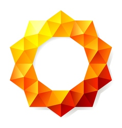 graphic polygon vector image vector image