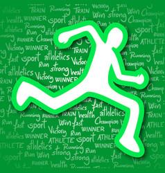 healthy sport vector image vector image