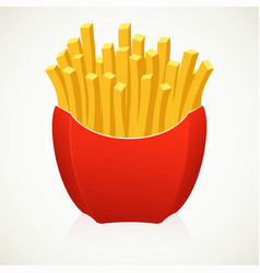 Large french fries on white background vector