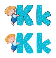 letter K kid vector image vector image