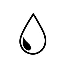 line natural water drop to environment care vector image vector image