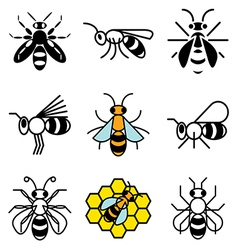 Logo icons bee vector