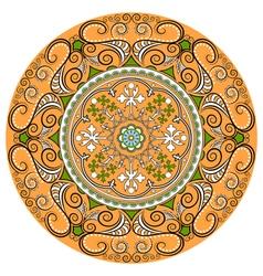 Mandala Round Ornament PatternGeometric circle ele vector image vector image