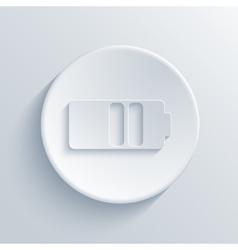 modern light circle icon vector image vector image