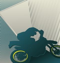 motocross sport background vector image vector image