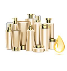 Nourishing cosmetics vector