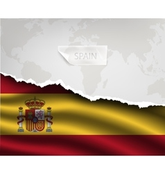 paper with hole and shadows SPAIN flag vector image vector image