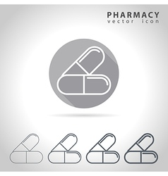 Pharmacy outline icon vector