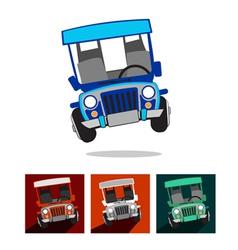 Philippine jeep vector